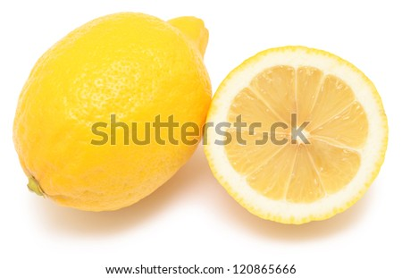 two juicy lemons isolated on a white