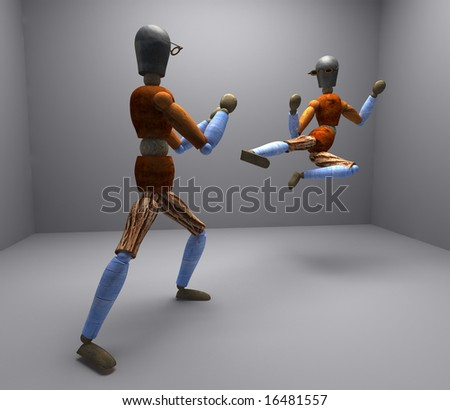 two kung-fu puppet 1