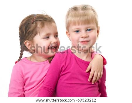 two little cutu girlfriends play together