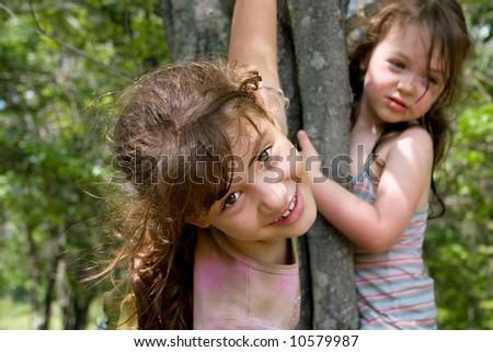 Girl Climbing Tree in Dress Girl Climbing Tree in Dress