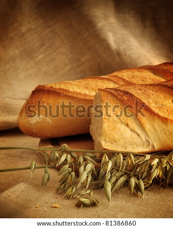 Two loafs of bread and oat