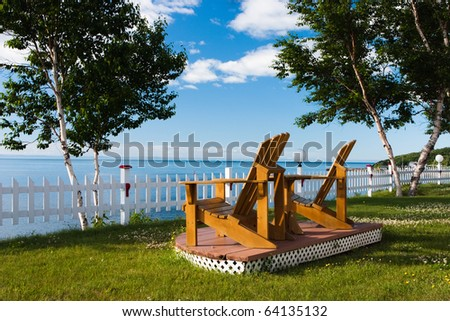 Two Lonely Chairs on the beach in Canada