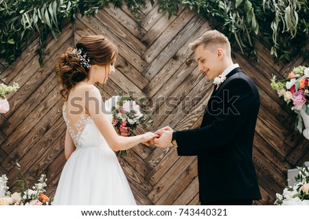 Two lovers hearts on the wedding ceremony