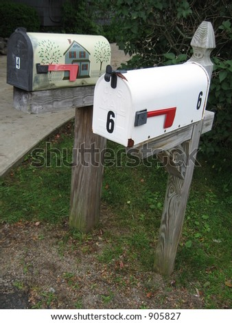 two mailboxes in maine