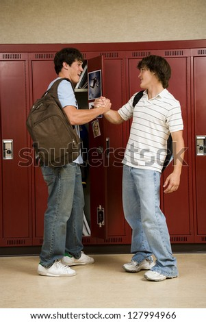 Two male High School students.