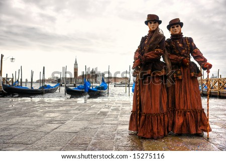 Two  mask in Venice, Italy.