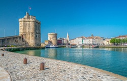 Two medieval towers at the entrance to La Rochelle harbour