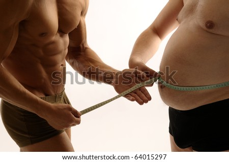Two men comparing their condition