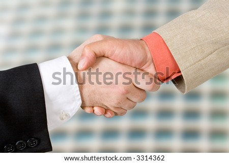 Two men shaking hands (2)