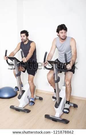 Two men spinning