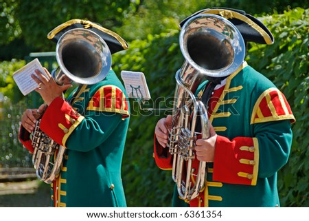 Two men with Trombones