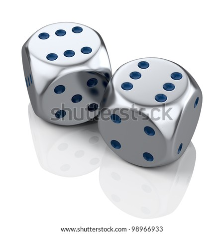 Two metal dices