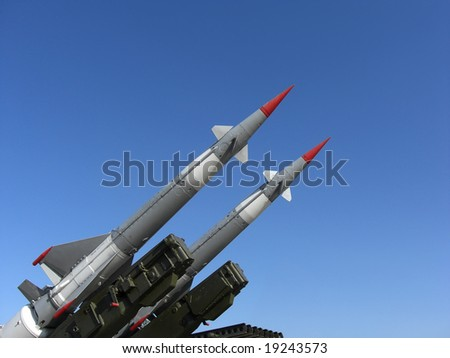 Two missiles are ready to launch