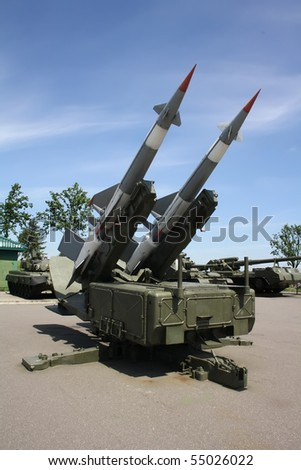 Two missiles launcher outdoors