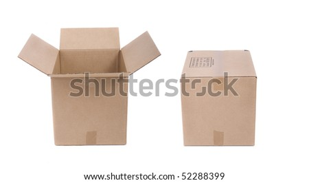 Two Moving boxes isolated on white background