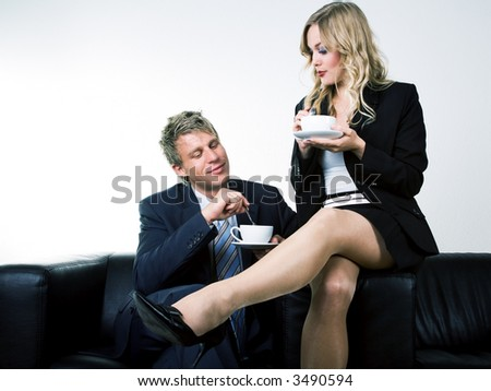 Intense Eye Contact Between Man And Woman