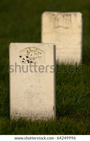 Two old tombstones