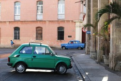 Two oldtimers in Havana, Cuba during the Castro regime