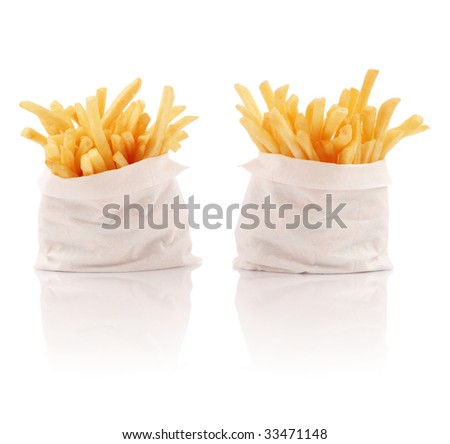 Two packs of french fries