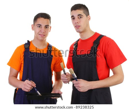 Two painters in their uniform