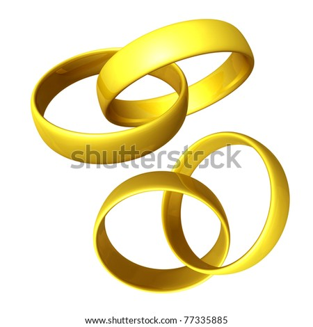 Two pairs of golden rings
