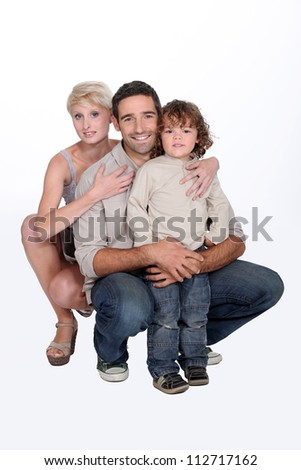 two parents and their 5 years old son