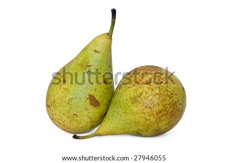 two pears conference on white background