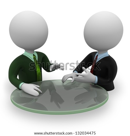 Two persons negotiation