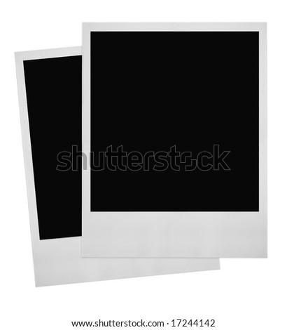 two photo frames on white background