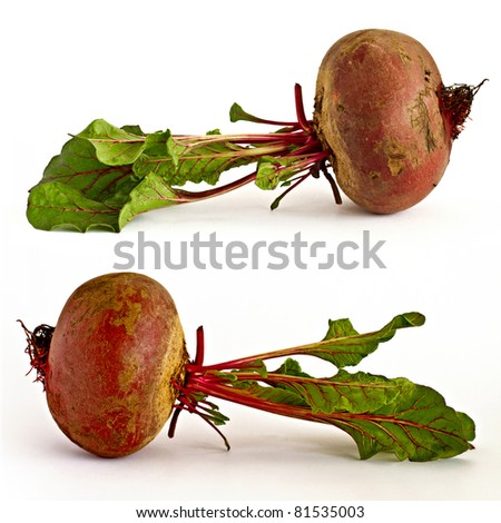 Two picture of beetroot