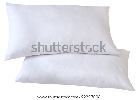 Two pillows. Isolated