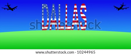two planes flying to giant Dallas sign JPG