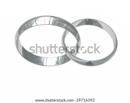 Wedding Rings Logo Wedding Rings on White