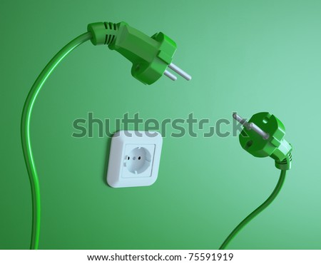 Two plugs struggle for the electric socket