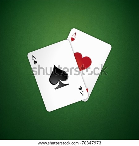 two poker card on the table