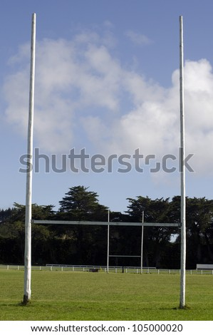 Two Poles of a Football / Rugby Goal field.