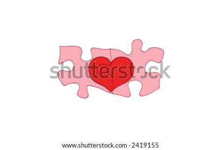 Puzzle Pieces Fitting Together Two Puzzle Pieces Fit Together