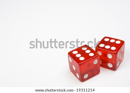 Two Red Dice on Light Background #19311214