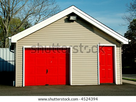 Two Red Doors - stock photo
