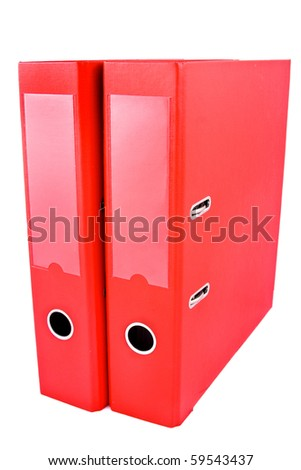 two red folders on white background