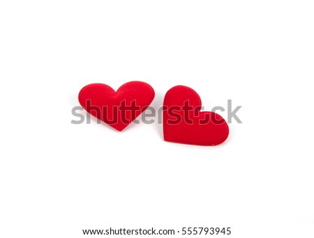 two red heart on white background #555793945