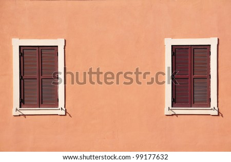 Two red windows