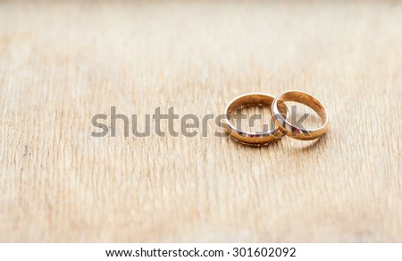 two rings on table