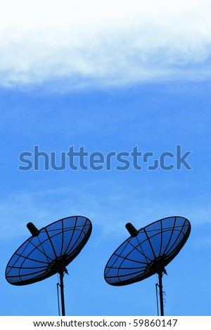 Two Satellite Dish and blue sky