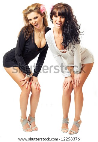 stock photo : two sexy girls
