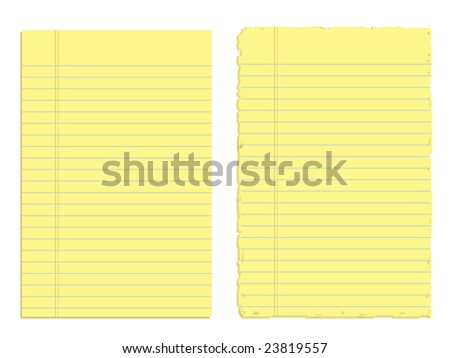 Two sheets of paper isolated on white (Vector version also available in my portfolio)