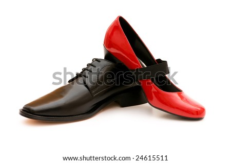 Two shoes isolated on the white background