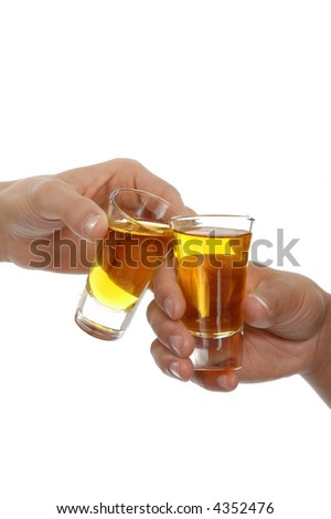 toast with shot glass