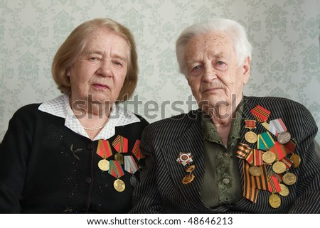 Two sisters veterans of war 1941-1945 with Germany