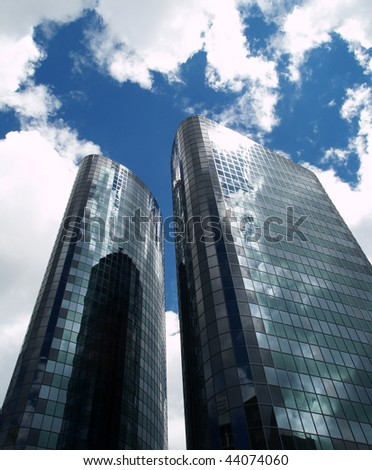 Two skyscrapers, Auckland, New Zealand - stock photo